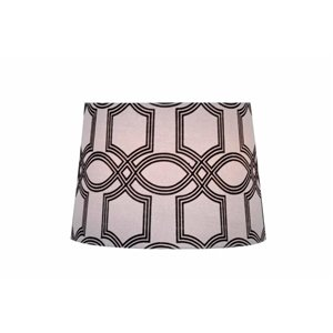 Catalina 13 In. Flocked Black/White Traditional Lattice Tapered Shade
