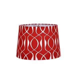 Catalina 13 In. Printed Watercolor Lattice Pattern in Red