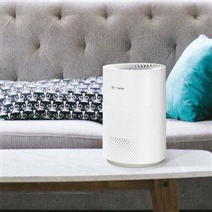 GermGuardian 13.5-in White Air Purifier Tower with 360 Degree True HEPA Filter