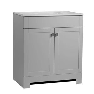 Style Selections Leisel 31-in Single Sink Gray Bathroom Vanity With Cultured Marble Top
