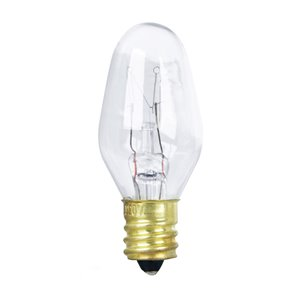 Feit Electric 4-Watt Candelabra Base (E-12) Dimmable C7 Incandescent Light Bulb (4-Pack)