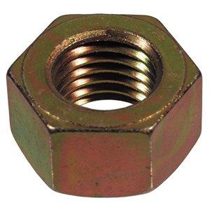 Hillman 9/16-in-12 Yellow Zinc Standard (SAE) Hex Nut