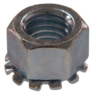 2-Count 1/4-in Zinc-Plated Standard (SAE) Keps Lock Nut