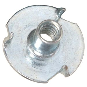 Hillman #6-32 Zinc-Plated Standard (SAE) 3-Prong Tee Nuts (2-Pack)