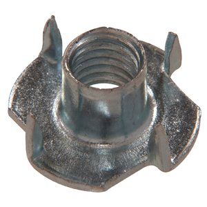 2-Count #8 Zinc-Plated Standard (SAE) 3-Prong Tee Nut