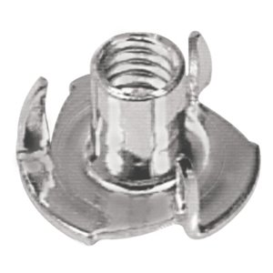 Hillman 880530 1/4-in-20 Zinc-Plated Standard (SAE) 3-Prong Tee Nuts (2-Pack)