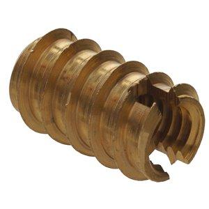 Hillman #8-32 Brass Standard (SAE) Wood Insert Lock Nuts (2-Pack)