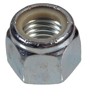 Hillman #8-32 Zinc Plated Standard (SAE) Nylon Insert Lock Nuts (4-Pack)
