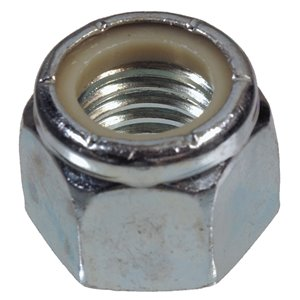 Hillman 7/16-in-14 Zinc Plated Standard (SAE) Nylon Insert Lock Nuts (4-Pack)