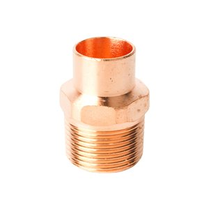 3/4-in x 1-in Dia. Copper Threaded Adapter Fitting