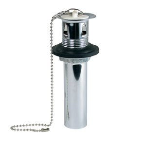 Plumb Pak 1-1/4-in Polished Chrome Decorative Chain and Stopper Sink Drain