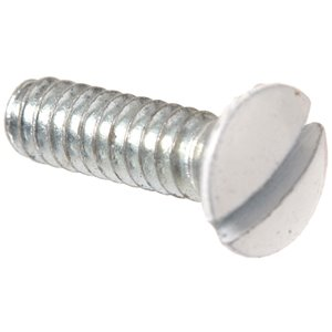 #6-32 x 1-in Zinc-Plated Oval-Head Slotted Standard (SAE) Machine Screw (2-Count)