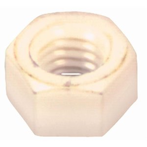 Hillman 4-Count #6-32 Nylon Standard (SAE) Hex Nuts