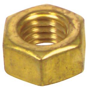 6-Count #4 Brass Standard (SAE) Hex Nut