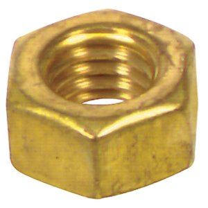 Hillman 881636 6-Count #8-32 Brass Standard (SAE) Hex Nuts