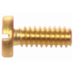 Hillman #6-32 Brass Pan-Head Slotted Standard (SAE) Machine Screw (6-Count)
