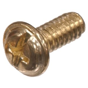 #8-32 Brass-Plated Oval-Head Phillips Standard (SAE) Machine Screw (6-Count)