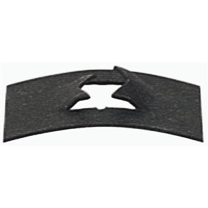 Hillman 1/4-in-20 Black Phosphate Steel Standard (SAE) Flat Spring Nuts (2-Pack)