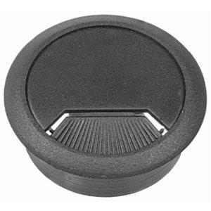 Hillman 2-3/8-in Black Plastic Desk Grommet
