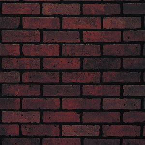 47.75-in x 7.98-ft Embossed Red Brick Hardboard Wall Panel