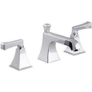 KOHLER Memoirs Polished Chrome 2-Handle Widespread WaterSense Bathroom Sink Faucet with Drain