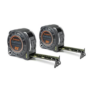 Lufkin Shockforce Nite Eye Tape Measure- 2 pack, 25-ft x 1-3/16-in