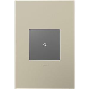 Legrand adorne 1-Gang Square Wall Plate (Titanium)