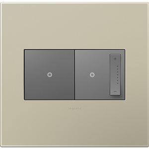 Legrand adorne 2-Gang Square Wall Plate (Titanium)