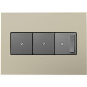 Legrand adorne 3-Gang Square Wall Plate (Titanium)