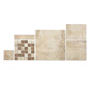 Style Selections 9-in x 12-in Mesa Beige Glazed Porcelain Floor Tile