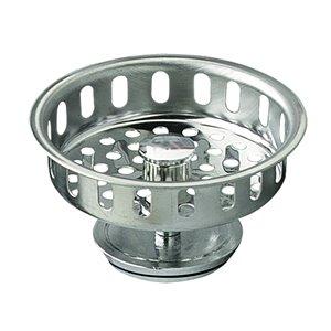 Plumb Pak 3-1/2-in Dia Chrome Adjustable Post Replacement Basket