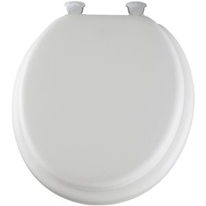 Mayfair Easy Clean And Change White Cushioned Vinyl Round