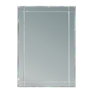 Prism 24-in x 30-in Clear Beveled Rectangle Framed or Frameless Traditional Wall Mirror