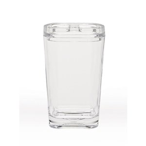 Moda at Home Optiks Acrylic Clear Toothbrush Holder