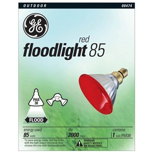 GE 85-Watt PAR38 Red Outdoor Incandescent Flood Light Bulb