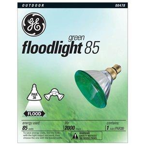 GE 85-Watt PAR38 Green Outdoor Incandescent Flood Light Bulb