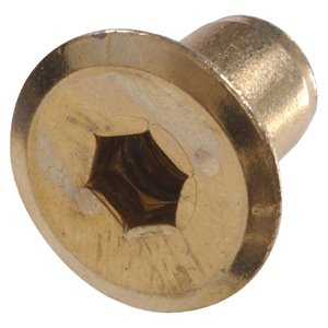 Hillman 1/4-in-20 Brass Plated Standard (SAE) Joint Connector Nut (4-Pack)