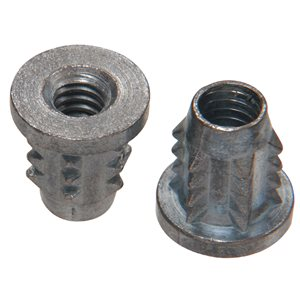Hillman 1/4-in-20 Zinc Plated Standard (SAE) Wood Insert Lock Nuts (4-Pack)