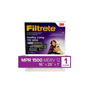 3M 25-in x 16-in x 1-in 1500 MRP Ultra Allergen Reduction Electrostatic Pleated Air Filter