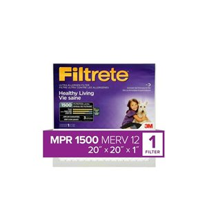 3M 20-in x 20-in x 1-in 1500 MRP Ultra Allergen Reduction Electrostatic Pleated Air Filter