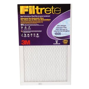3M 25-in x 14-in x 1-in 1500 MRP Ultra Allergen Reduction Electrostatic Pleated Air Filter