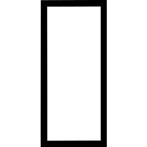 LARSON 36-in Black Aluminum Storm Door Frame