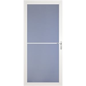 Larson 36 In Baybreeze White Full View Tempered Glass