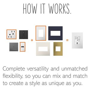 Legrand adorne Wave Single-Pole 3-Way 15-Amp Motion-Activated Light Switch