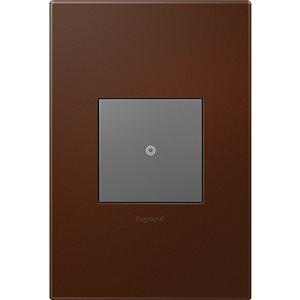 Legrand adorne 1-Gang Square Soft Touch Wall Plate (Russet)