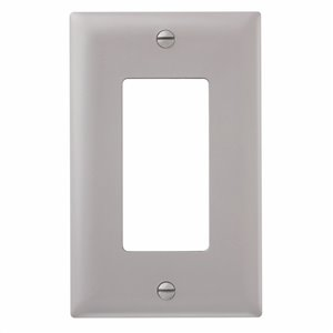 Legrand 1-Gang Grey Decorator Rocker Nylon Wall Plate