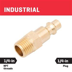 Kobalt Brass NPT Plug Male 1/4-In Industrial
