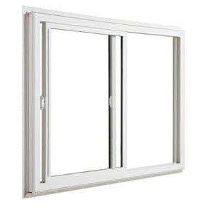 JELD-WEN 48-in x 48-in Low-E Argon Double Pane Vinyl Sliding Window