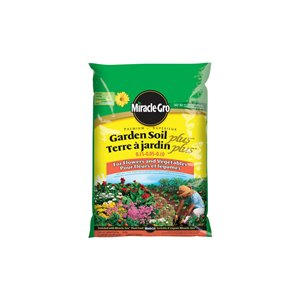 Miracle-Gro 28.3L Premium Garden Soil Plus for Flowers and Vegetables