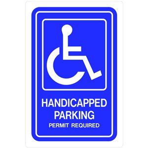 Hillman 18-in x 12-in Handicapped Parking Sign